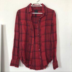 RtA linen plaid shirt